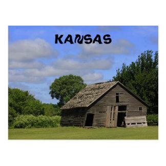 Old Kansas Country Barn Post Card