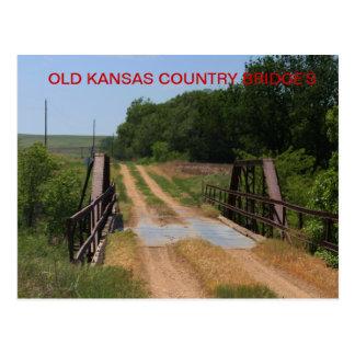 OLD KANSAS COUNTRY BRIDGE'S Postcard