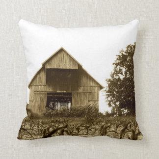 Old Kentucky Barn Throw Pillow