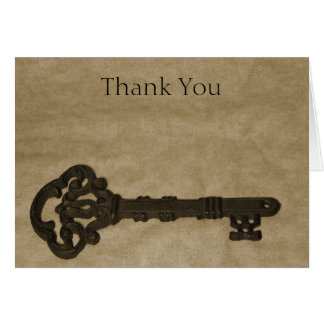 Old Key Wedding Thank You Cards