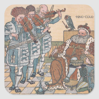Old King Cole Nursery Rhyme Square Sticker
