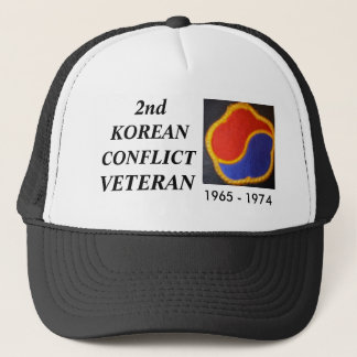 OLD KOREA DMZ 1, 2nd, KOREAN, CONFLICT, VETERAN Trucker Hat