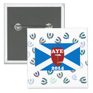 Old Labour for Scottish Independence Badge 2 Inch Square Button