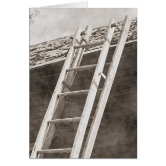 Old Ladder Note Card