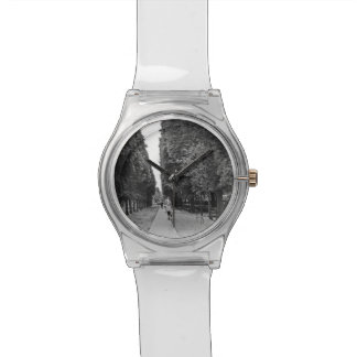 Old lady walking at park in Paris in summer Wristwatch