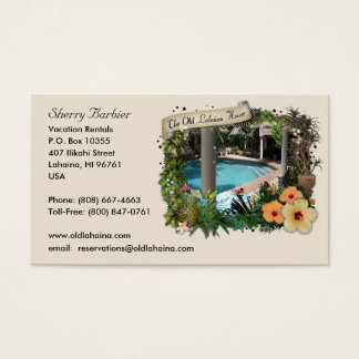 Old Lahaina House Business Card