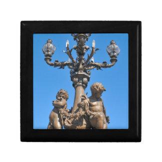 Old lamppost in Paris, France Keepsake Box
