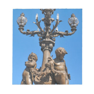 Old lamppost in Paris, France Notepad