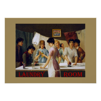 Old Laundry Room Sign Poster