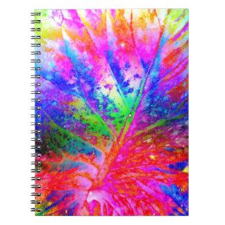 old leaf solar spiral notebook