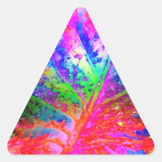 old leaf solar triangle sticker