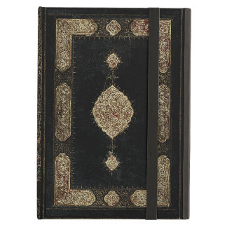 Old Leather And Fine detail Gold Book Cover Case For iPad Air