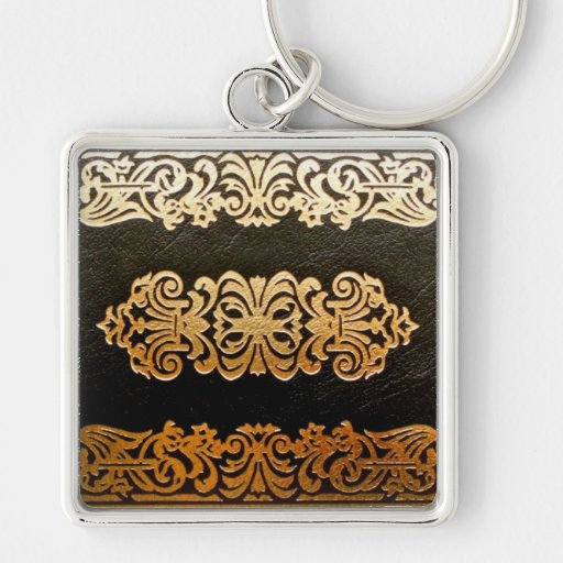 Old Leather Book Cover Key Chains