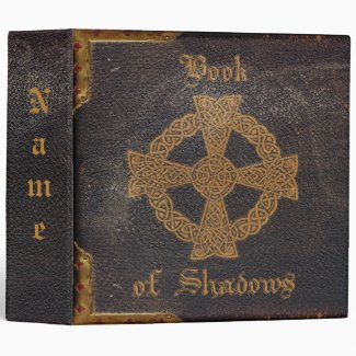 OLD LEATHER BOUND BOOK of SHADOWS BINDER