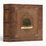 Old Leather Look Family Tree Genealogy Vinyl Binder