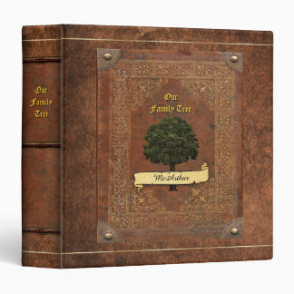 Old Leather Look Family Tree Genealogy Vinyl Binders