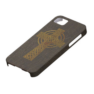 Old Leather Print Cross iPhone 5 Cover
