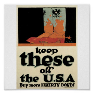 "Old ""Liberty Bonds""  U.S. War Poster c. 1918"