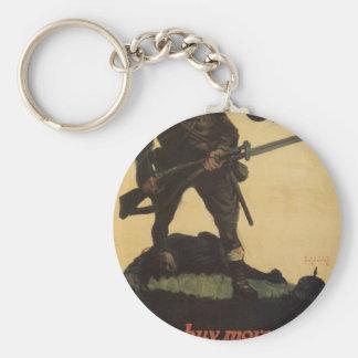 "Old ""Liberty Bonds""  U.S. War Poster c. 1918 Basic Round Button Keychain"