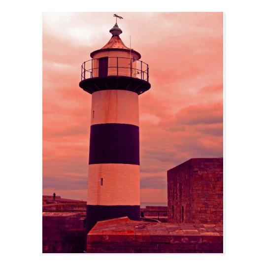 old lighthouse postcard