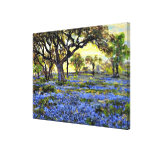 Old Live Oak Tree and Bluebells - Onderdonk art Gallery Wrapped Canvas