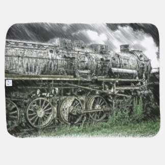 Old Locomotive Baby Blanket