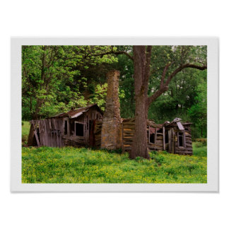 Old Log Cabin Poster