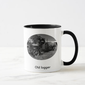 Old logger mug