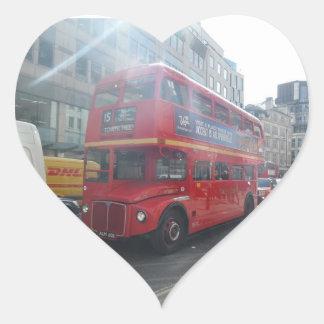 Old  London City Bus Heart Sticker