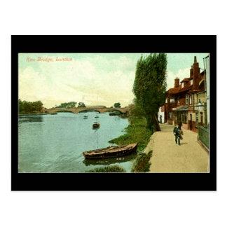 Old London Postcard - Kew Bridge in 1921