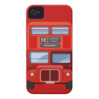 Old London Red Double Decker Bus iPhone 4 Case