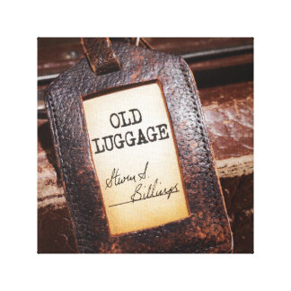 """Old Luggage"" Canvas Wrap Poster"
