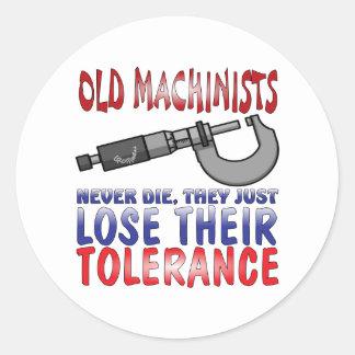 Old Machinists Epitaph Round Sticker