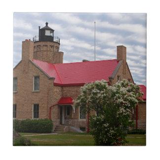Old Mackinac Point Lighthouse Ceramic Tiles