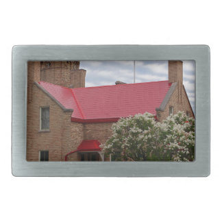 Old Mackinac Point Lighthouse Rectangular Belt Buckles