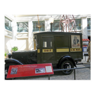Old Mail Truck Smithsonian National Postal Muesum Postcard