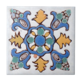 Old Majolica 2 painted by hand in cream colors Tile