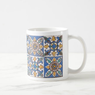 Old Majolica Wall Tiles Pattern painted by hand Coffee Mug