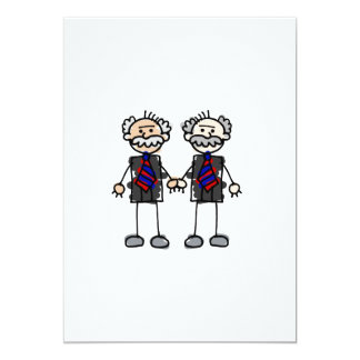 """Old Male Lovers 5"""" X 7"""" Invitation Card"""