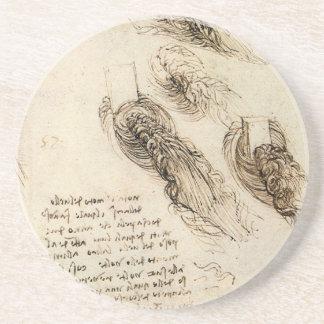 Old Man and Water Sketch by Leonardo da Vinci Beverage Coasters
