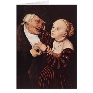 Old Man and Young Woman by Lucas Cranach the Elder Card