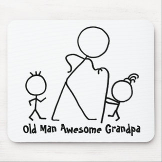 Old Man Awesome Grandpa Mouse Pads