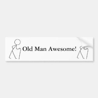 Old Man Awesome Original design Bumper Sticker