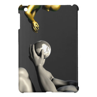 Old Man Giving Earth to a Child as a Conservation iPad Mini Cover
