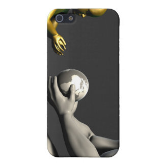 Old Man Giving Earth to a Child as a Conservation iPhone 5 Covers