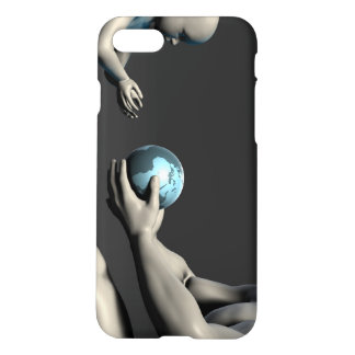 Old Man Giving Earth to a Child as a Conservation iPhone 7 Case