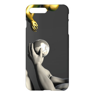 Old Man Giving Earth to a Child as a Conservation iPhone 7 Plus Case