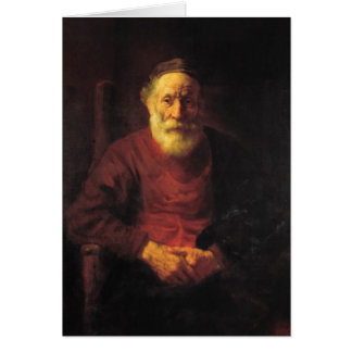 Old man in red - Rembrandt Card