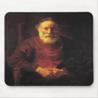 Old man in red - Rembrandt Mouse Pads
