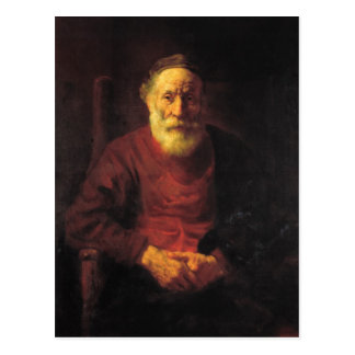 Old man in red - Rembrandt Postcard